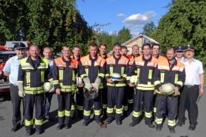 Gruppenfoto FFW Weigelshofen (Anklicken für großes Foto)
